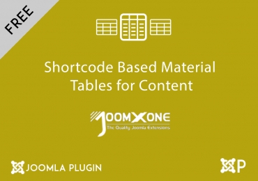 Shortcode Based Material Tables